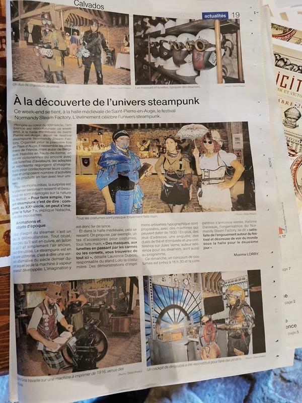 mon mari dans le journal ouest France normandy Steampunk factory