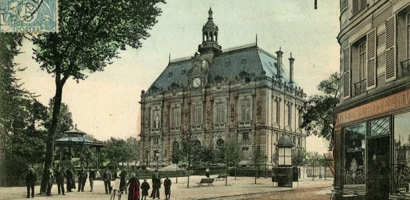 carte postale de la mairie d'Ivry