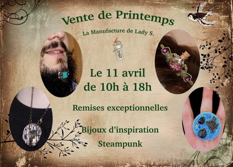 Vente de Printemps sur Facebook de la Manufacture de Lady S.