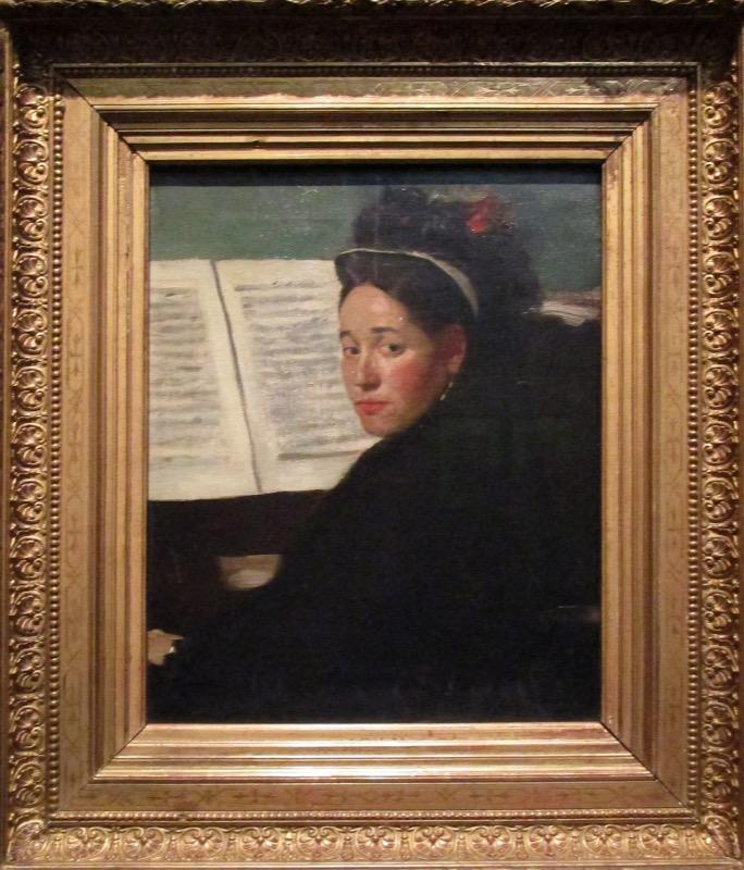 Mademoiselle Dihau au piano - Degas à l'Opéra