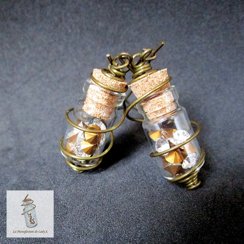 boucles d'oreille amulettes Steampunk Aurélia la Manufacture de Lady S. bijoux Steampunk
