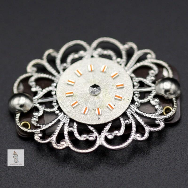bijou de barbe ovale Steampunk cadran de montre la manufacture de lady s bijoux steampunk