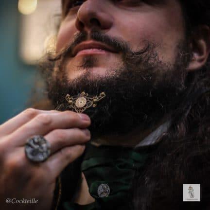 bijou de barbe triangle la manufacture de lady s. bijoux steampunk