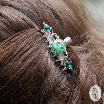 peigne fiole Selena la Manufacture de Lady S. bijoux steampunk