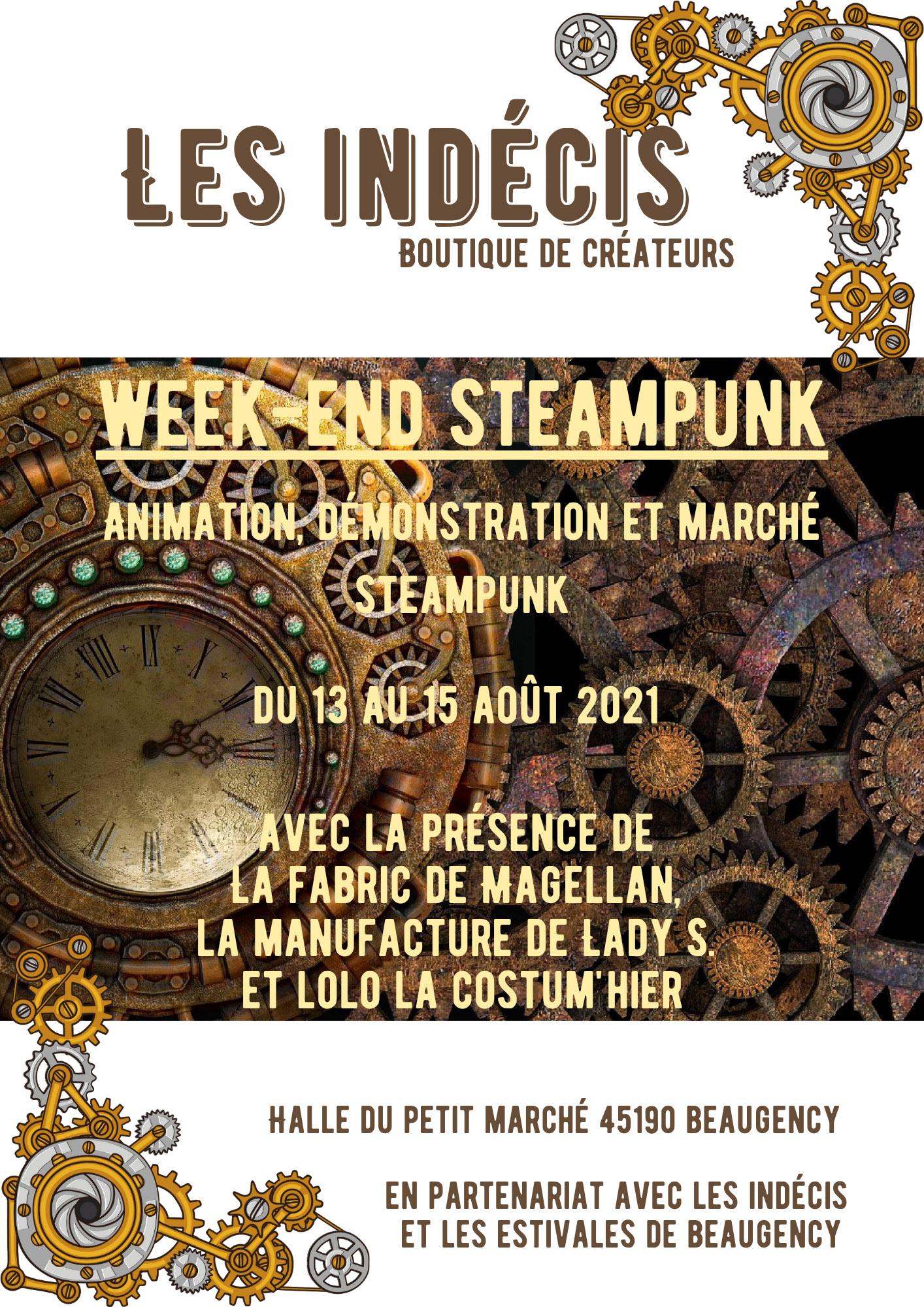week end Steampunk à Beaugency 13 à 15 aout 2021