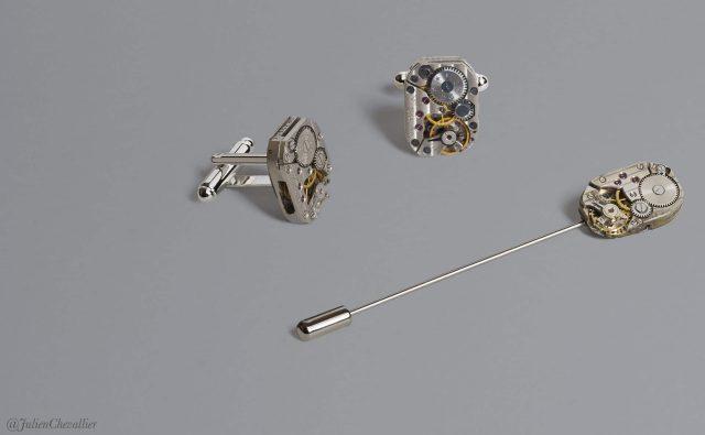 parure-mecanismes-rectangles-boutons-de-manchette-et-epingle-a-cravate-la-manufacture-de-lady-s-bijoux-steampunk-@julienchevallier-2